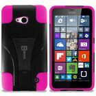 Heavy Duty Protective Kickstand Hybrid Phone Cover Case for Microsoft Lumia 640