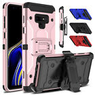 For Motorola Moto G6 Play/Forge Shockproof Armor With Kickstand Clip Case Cover