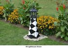 Amish-Made Replica Cape Lookout, NC Lighthouses with Solar-Powered LED Lighting!