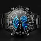 INFANTRY Mens Digital Analog Wrist Watch Chronograph Sport Army Stainless Steel image