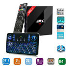 Android H96 Pro+ Plus 32GB/3GB 1080p 4K Octa Core TV Box+Color Backlit Keyboard