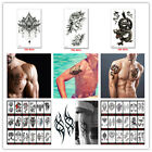 Men Women Sleeve Arm Waterproof Temporary Tattoo Stickers Us Seller