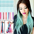 US Purple Streaks Clip In Hair Extension Real Natural As Hum