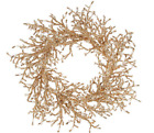 """19"""" Glittered Iced Crystal Twig Wreath H209554 CHECK FOR COLOR"""