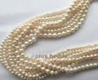 16in. Freshwater Pearl White round beads 3mm , 4mm , 5-6mm various sizes