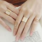 3 Rings Set Punk Ring Adjustable Open Wide Mid Finger Knuckle Rings Thumb Comley