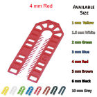 100mm x 43mm x 4mm RED PLASTIC PACKERS U SHIMS PAILS SPACERS WEDGES
