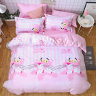Single Queen King Bed Set Pillowcase Quilt Cover Cotton Blend LusL Pink Panther