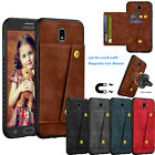 For Samsung Galaxy J7 Refine / J7 Pro / J7 2018 Leather Card Magnetic Mount Case