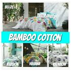4 Pc Soft Bamboo Cotton Bedding Set - Bed Sheet, Duvet Cover, Shams (Full/Queen) image