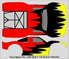 RC Paint Mask airbrush stencils Short Course Body 1/5 5IVE T Losi 5T330 WARP