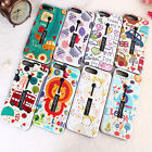 Cartoon Flowers Ring Holder Stand Hybrid Phone case for iphone 6s 6 8 7  plus X