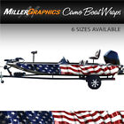 American Flag Waving Boat Wrap Kit 3M Cast Vinyl - 6 Sizes Available
