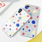 Ins Cartoon Wave Point Phone Case Silicone TPU Cover For iPhone X 8 7 6S Plus
