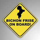 Bichon Frise On Board Decal Sticker Dog Mom Dad Animal Lover