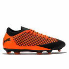 PUMA Future 2.4 Firm Ground Football Boots Shoes Orange Mens