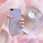 Marble Stone Iridescent Skin Phone Case Shell For iPhone X 8 7 6S 6 Plus Girls