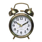 Non-ticking Vintage Bedside /Table Analog Alarm Clock with Backlight