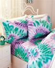 GOOD VIBES TIE-DYE RAINBOW OR SKY PATTERNED SHEET SET BEDDING-3 SIZES image