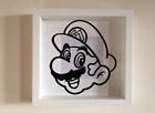 IKEA RIBBA Box Frame Personalised Vinyl Wall Art Quote Super Mario