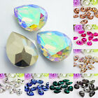 ND_ Wholesale 10 Pcs Teardrop Resin Rhinestones Beads 18 X 25mm DIY Pendant Ch