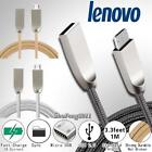 For Lenovo - 3FT Micro USB Fast Charging Phone Data Sync Charger Braided Cable