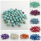 New Arrival 80pcs 6mm Multi Coloured Floral Glass Beads For Jewellery Making