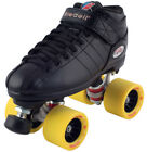 NEW! Riedell R3 Demon EDM Quad Roller Derby Speed Skates Black & Yellow