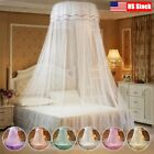 Lace Bed Mosquito Netting Mesh Canopy Princess Round Dome Bedding Net Tent USA