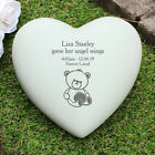 PERSONALISED MEMORIAL GARDEN PLAQUE GRAVE ORNAMENT HEART BABY CHILD SON DAUGHTER