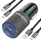 Meagoes Rapid Car Charger for Samsung Galaxy S9/S9+/S8 plus/Note 8, HTC U... New