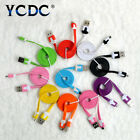 1M FLAT NOODLE MICRO USB DATA CHARGER CHARGING CABLE FOR ANDROID MOBILE PHONE 3