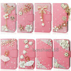 Magnetic Bling Crystal Diamond PU leather flip wallet  case cover  #2