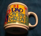 Russ Berrie golf #1 Dad On The Green White Ceramic Coffee Tea cocoa Mug Vintage