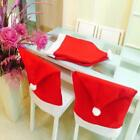 Christmas Red Chair Cover Santa Claus Dinner Table Xmas Hat Chairs Decoration