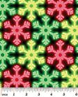 1 yard Christmas Lights from Kanvas Bernatex Cotton Fabric snowflake glow multi