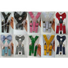 Внешний вид - Unisex Suspenders and Bow Tie Set Adjustable Braces Elastic Y-back for Baby Kid