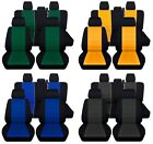 Truck Seat Covers 2015-2018 Ford F-150 Full Set Black with 23 Color Inserts ABF