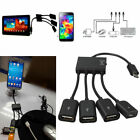 4 Port Micro USB Power Charging OTG Hub Cable for phone Android Tablet Laotop R1