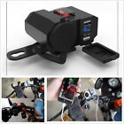 12V Motorcycle Cigarette Lighter Dual USB Charger Power Adapter For iPhone X GPS