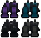 Truck Seat Covers 2015-2018 Ford F150 Custom Name Black with Color Choices ABF