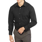 George Mens Long Sleeve Poplin Collar Button-Up Dress Shirt CHOOSE SIZE & COLOR