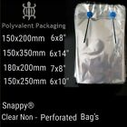 Clear Plastic Food Bags Poly Not Polythene snappy bags