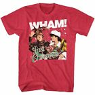 WHAM Men's Short Sleeve T-Shirt CHERRY HEATHER LAST CHRISTMAS