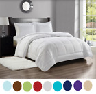 8 Piece Bed In A Bag Hotel Dobby Embossed Comforter Sheet Bed Skirt Sham Set NEW image