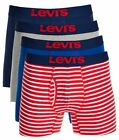 Levi's 4-Pack Men's Cotton Stretch Boxer Briefs Red Assorted