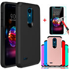 For LG K30/Premier Pro LTE/Phoenix Plus Armor Case Cover+Glass Screen Protector