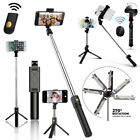 Extendable Selfie Stick With Bluetooth Remote Shutter + Tripod Mount...