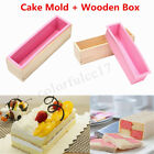 Silicone Soap Mold Wooden Box Loaf Cake Maker Cutting Slicer Cutter Handmade DIY