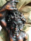 19th C. Venetian Grotto Music Chair W/ Carved Figural Satyr & Raising Shell Seat